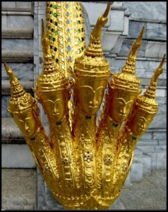Five-headed snake, Grand Palace in Bangkok, Thailand